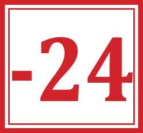 minus 24 days